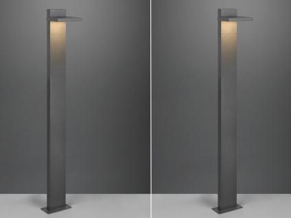 LED Wegeleuchten Set Pollerlampe Anthrazit Outdoor Stehlampe Gartenlampen Strom