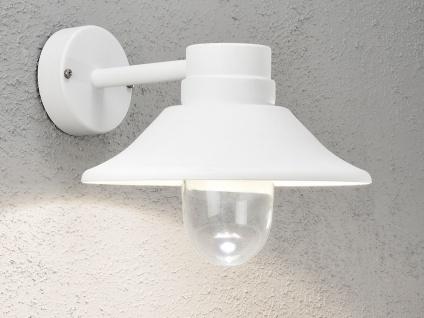 LED Außenwandleuchte VEGA, dimmbar, 700 Lm, Aluminium weiß