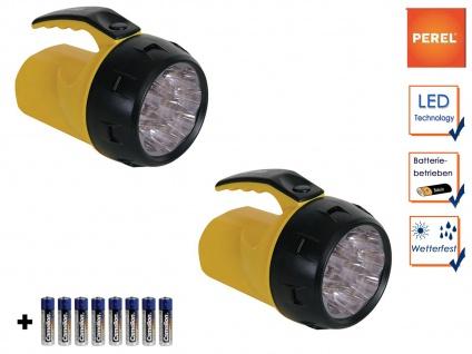 2er Set LED Handscheinwerfer Suchscheinwerfer, Outdoor Arbeitslampen wetterfest
