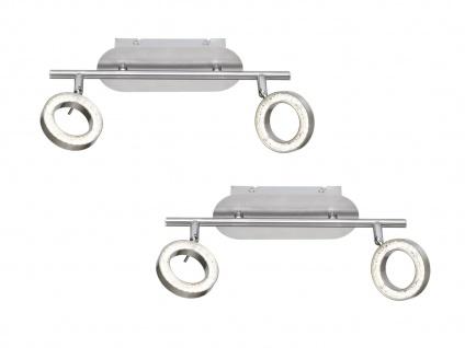 2er Set 2-flammige LED Deckenleuchte, Spots schwenkbar, Deckenstrahler Balken - Vorschau 2