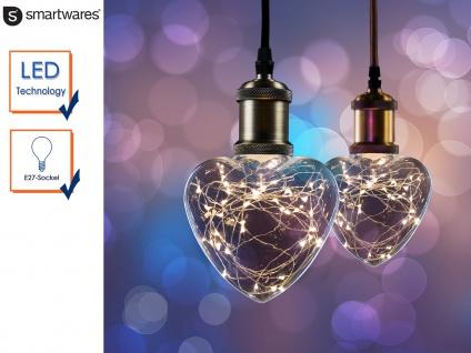 LED Deko Leuchtmittel Herzform E27 30 LEDs, Stimmungsleuchtmittel Partylicht