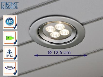 Konstsmide LED Deckeneinbaustrahler schwenkbar, Strahler Bad Leuchte außen Haus