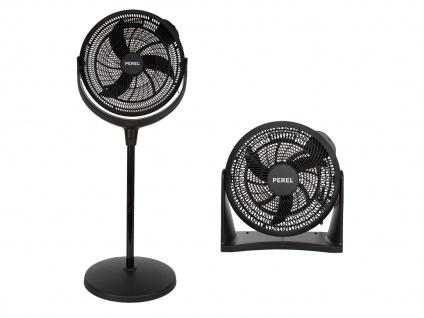 Ventilatoren Set - Stehventilator höhenverstellbar & Wand- Tischlüfter fürs Büro