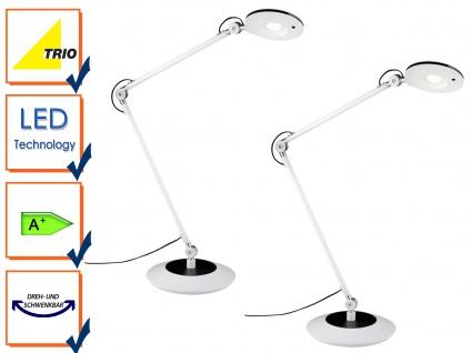 Schreibtischlampe, Schreibtischleuchte RODERIC in weiß, 2er Set, Trio