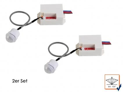 2er Set PIR Bewegungssenor, weiß, 100°/8m, Bewegungsmelder PIR Sensor Melder