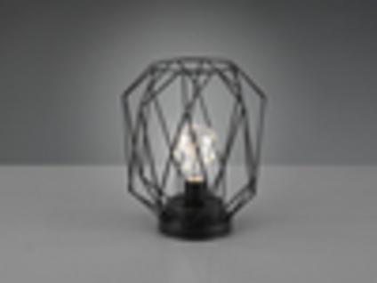 Coole LED Tischlampe Industriedesign mit Batterie Gitterlampen Nachtischlampen