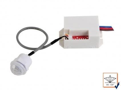Mini PIR Bewegungsmelder, 100°/8m, Einbau Bewegungssensor PIR Sensor Melder