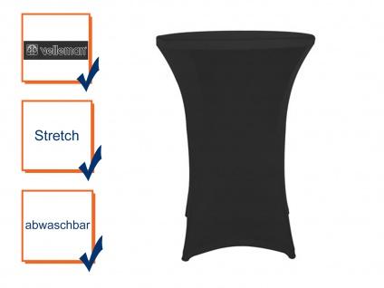 STRETCH Stehtisch-Husse schwarz hochwertig für Ø80 x 110cm, Bistrotisch Hussen