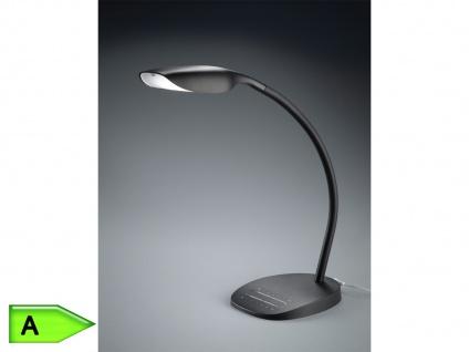 LED Schreibtischlampe flexibel, Tischleuchte modern, Dimmer, Lichtfarbe wechseln