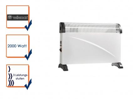 Konvektor Heizung, 3 Stufen, 2000W, Elektro Heizgerät, Heizkörper elektrisch
