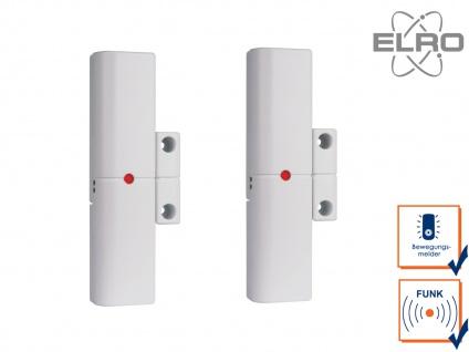 2er Set Smart Home Türkontakt Fenstersensor ELRO Alarmanlage AG4000 Handy App