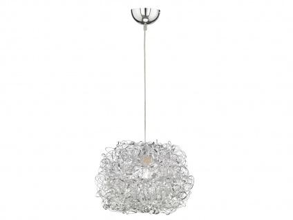 LED Hängeleuchte Silber Ø 40cm, Esstisch Lampe Pendelleuchte Wohnzimmer Flur