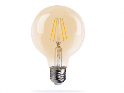 Großes Filament LED Leuchtmittel Globe 14cm, 4W warmweiß, E27 Wohnraumleuchten
