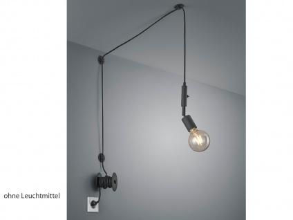 Pendellampe Schwarz matt mit Kabel & Stecker für Steckdose - Fassung schwenkbar