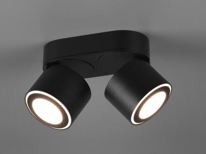 LED Deckenstrahler 2-flammig Schwarz schwenkbare Deckenlampen für Flur und Diele