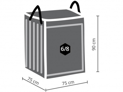 Abdeckung 300x300cm für Garten Lounge Set L-förmig + Schutzhülle für 6-8 Kissen - Vorschau 4