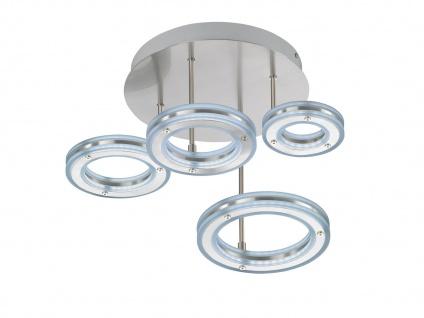 4 flammige LED Deckenleuchte Design Ringe mit Fernbedienung dimmen & Farbwechsel