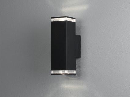 ALU Wandlampe für Außen Innen Up and Down IP44 Schwarz 23cm Fassadenbeleuchtung