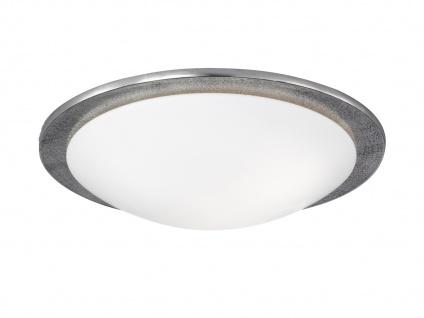 LED Deckenleuchte SHINE-ALU 50cm Nickel antik Glas opalweiß Deckenlampe Design