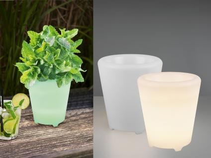 2er SET beleuchteter Blumentopf Pflanzkübel Farbwechsel Bluetooth Lautsprecher