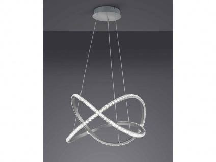 Dimmbare LED Pendellampe geschwungen mit Farbwechsel und Fernbedienung 50cm rund