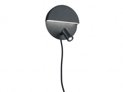 LED Wandstrahler mit Schalter & mehreren Lichtquellen, getrennt schaltbar schwarz