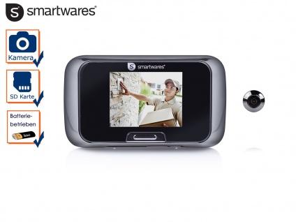 Video Türspion Guckloch für die Haustür, Viewer mit Bildschirm und SD-Karte
