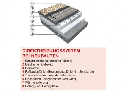 Fußbodenheizung / Heizmatte 1210W, 15, 1 x 0, 5m, 160W / m², Vitalheizung - Vorschau 4