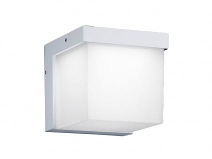 LED Außenwandleuchte Weiß, Terrassenbeleuchtung Wand, DESIGN Würfel, Außenlampe - Vorschau 2