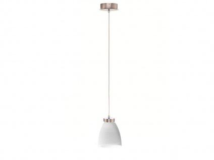 LED Pendelleuchte Glasschirm weiß gewischt, Hängelampe Pendel Esstisch Küche