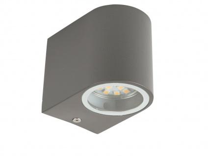 2x LED Außenwandleuchte Bastia Aluminium Anthrazit Down Light Wandleuchte Außen - Vorschau 2