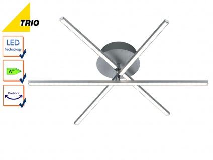 LED Deckenleucht HIGHWAY Aluminium gebürstet Acryl weiß Ø 60 cm
