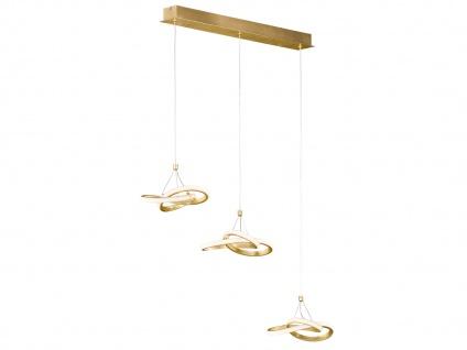 LED Pendelleuchte in Blattgold-Optik 39W höhenverstellbar - Esszimmerleuchten