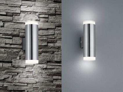 2er SET UP and DOWN LED Fassadenbeleuchtung Außenwandlampe Silber für Terrasse