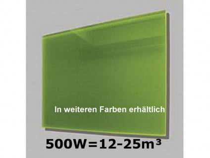 500W Infrarot-Glaspaneel grün, 90x60cm, für Räume 12-25m³