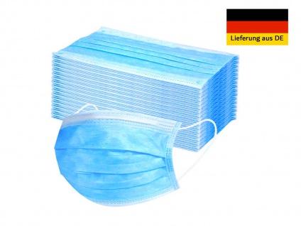 50 Stück Einwegmasken 3 lagig Hygienemasken Mundmasken Atem Behelfsmasken
