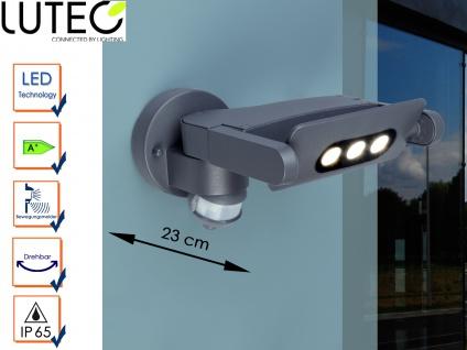 Außenwandleuchte mit Bewegungsmelder Radius 150° IP65 drehbar LED Wandleuchten
