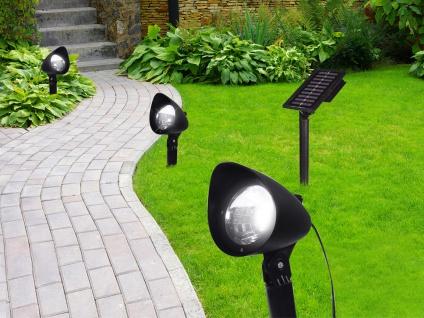 3XLED Solarlichter für den Garten Erdspieß Wegeleuchten mit seperates Solarpanel