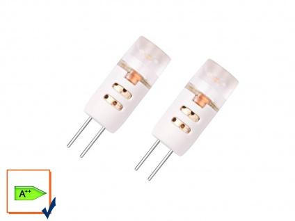 2er-Set LED Leuchtmittel 1, 2 W warmweiß, G4 GU4 12V, 70 Lumen