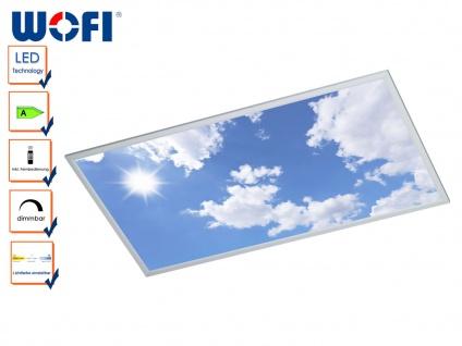 LED Paneel / Deckenleuchte 60x120 cm, dimmbar mit Fernbedienung, Himmel Optik