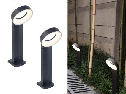 Moderne LED Stehlampen für den Außenbereich mit rundem Kopf ALU Anthrazit 18cm?