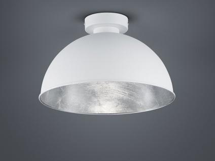 Vintage Deckenleuchte dimmbar für Esszimmer Deckenlampe in weiß + innen silber