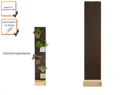 Wandaufbewahrung Wanddeko Memoboard Magnettafel Metall 14 x 74 cm, KalaMitica