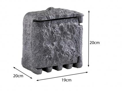 Außensteckdosen Steinoptik 2 fach mit Zeitschaltuhr 2er Set Gartensteckdosen - Vorschau 3