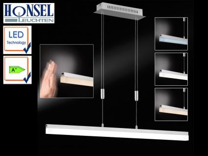 LED Pendelleuchte Nickel matt L. 90 cm dimmbar Gestensteuerung Design Lampen