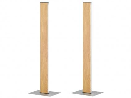 Dimmbare LED Nachttischleuchte 2 Stück in Holz-Optik mit Gestensteuerung - Flur