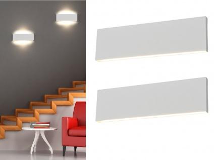 Flache LED Wandlampen Up and Down Light in Weiß dimmbar 2er Set Flurlampen 28cm