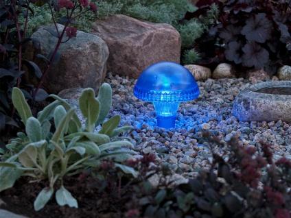 LED Solarleuchte / Gartenleuchte ASSISI, IP44, blau, Höhe 27, 5 cm