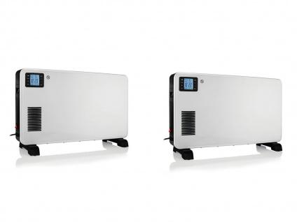 2er Set Turbo Boost Elektroheizungen (Konvektor) LCD mit Fernbedienung & Timer