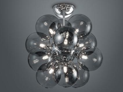 Deckenlampe mehrflammig Silber Lampenschirme Rauchglas - fürs WohnzimmerLampen